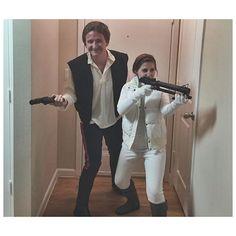 Han Solo and Leia on Hoth 🙃 #starwars #starwarscostume #couplescostume #leiaonhoth #hansolo #princessleia