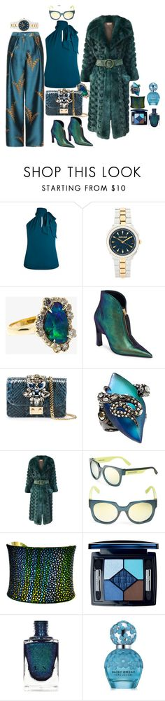 """""""Teal is a really fab. color"""" by blujay1126 ❤ liked on Polyvore featuring Roberto Cavalli, Kimberly McDonald, Marni, GEDEBE, Alexis Bittar, Christian Dior, McQ by Alexander McQueen, UNEARTHED and Marc Jacobs"""