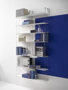 Thin Shelves, Built In Shelves, Swedish Design, Scandinavian Design, Media Shelf, Storing Books, Modular Shelving, Wall Mounted Shelves, Scandinavian Furniture