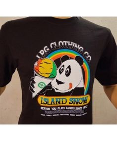 Men's LRG X Island Snow Hawaii ISH Limited Edition Premium Tee; Color Options: Black and White. $32.00