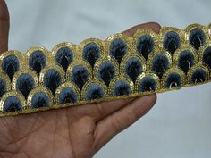Indian Sari Border Embroidered Sewing Fabric Trim Costume Trim