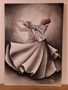 Dance Paintings, Anime Scenery Wallpaper, Turkish Art, Arabic Art, Color Pencil Art, Calligraphy Art, Artist Painting, Bird Art, Islamic Art