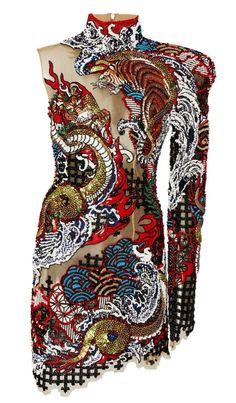 Asymmetric Cutout Embroidered Dress by BALMAIN for Preorder on Moda Operandi Kpop Fashion Outfits, Stage Outfits, Fashion Dresses, High Fashion, Street Fashion, Womens Fashion, Pretty Dresses, Beautiful Dresses, Mode Unique