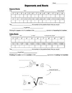 Grade Common Core Math - Exponents and Roots Guided Notes Math Teacher, Math Classroom, Teaching Math, Interactive Math Journals, Math Notebooks, Maths Algebra, Math 8, Pythagorean Theorem, Math Jokes