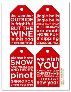 Msg 4 /// These DIY Kitchen Towel Wine Bags can be made in just minutes.and print out the free printable (punny) wine tags to go along with your wine gift! How to Sew Reusable Wine Bags from Kitchen Towels Wine Bottle Tags, Wine Tags, Wine Bottle Crafts, Diy Bottle, Wine Christmas Gifts, Christmas Tables, Holiday Gifts, Wine Craft, Wine Quotes