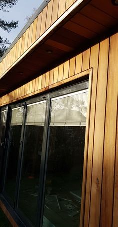 Western Red Cedar Cladding, Corner Moulding, Stainless Steel Nails, Apartment Design, Northern California, Wood Design, Carpentry, Living Room Designs, Westerns