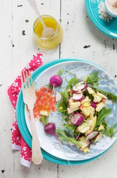 Radish salad with apple, avocado, egg and shaved Manchego from Beatrice Peltre. I'd love to have this for lunch!