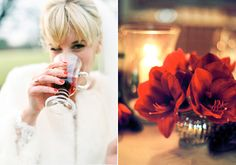 Red white and gold Christmas wedding | Photo by Ann-Kathrin Koch  | Read more - http://www.100layercake.com/blog/?p=83487