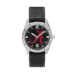 Men's Alabama Crimson Tide Guard Leather Watch, Multicolor