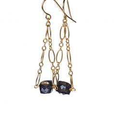 Iolite Cube Triangles | Earrings by Beth Kane Designs {bethkanedesigns.com}