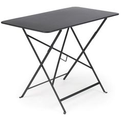 """Fermob Bistro Rectangle Folding Table 38"""" x 22"""" at The Garden Gates The 38"""" x 22"""" Bistro Table by Fermob is a classic French folding table made from laquered steel for durability, beauty and enjoyment for years. These metal folding tables are remeniscient of the restaurants and cafes throughout Europe and will look beautiful on any patio or deck as well as inside."""