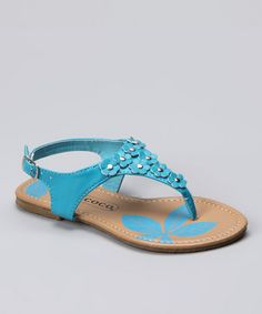 Take a look at this Blue Floral Sandal by COCO Jumbo on #zulily today!