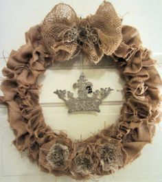 French Vanilla Home: rustic wreath