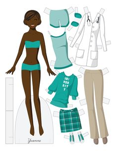 Paper dolls by Julie Allen Matthews.  A doctor paper doll to download and print.
