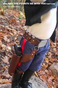 DIY Han Solo Holster.  Check out all our other Star Wars costumes on our blog…
