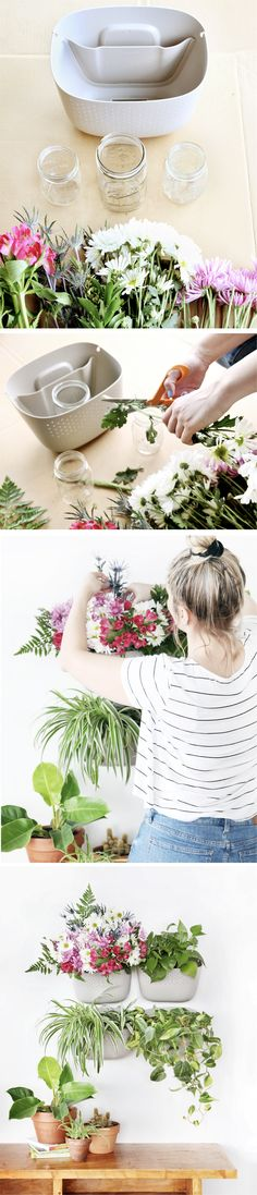 Follow the link to see how to make your own vertical flower arrangement using the Wally Eco!