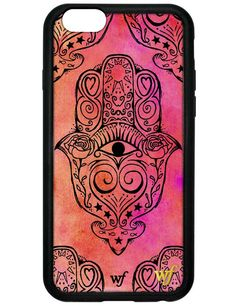 "First ever ""stud-less"" Wildflower iPhone case for the iPhone 5/5s and 6. The new Hamsa case, part of the Henna Collection"