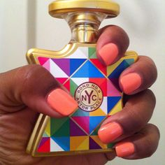 My Favorite Color and Fragrance:  essie Haute as Hello & Bond #9 Astor Place
