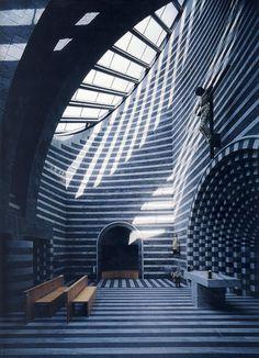Mario Botta's church interior