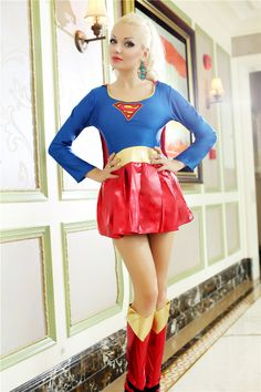 supergirl superheld volwassen halloween kostuums sexy vrouwen cosplay kostuum superman partysuit wonder(China (Mainland))