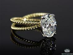 Stunning yellow gold oval diamond engagement ring