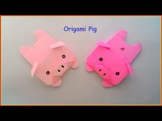 Origami Facile Animaux - Origami Pigs ♥ - YouTube