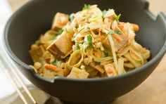 vegan: pad thai tofu...