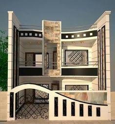 54 Best Ideas For Exterior Wall Design Facades Gate Wall Design, Front Wall Design, Exterior Wall Design, Bedroom False Ceiling Design, Facade Design, Village House Design, Bungalow House Design, Classic House Design, Modern House Design