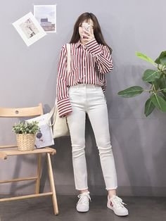♥ 72 hipster outfits you will want to try 1 Korean Girl Fashion, Korean Fashion Trends, Korean Street Fashion, Ulzzang Fashion, Korea Fashion, Asian Fashion, Teen Fashion, Latest Fashion, Ulzzang Style