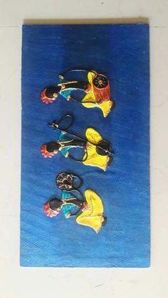 Clay Wall Art, Mural Wall Art, Mural Painting, Clay Art, Diy Painting, Murals, Paintings, African Crafts, Ceramic Angels