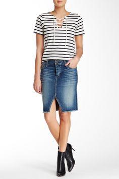 Cutoff Pencil Skirt