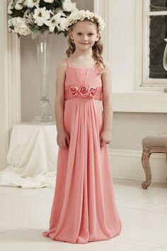 64379e4baaea Litter Girls Flower Girl Dresses for Wedding Cheap Under 100 Spaghetti  Floor-length Lovely Kids Junior Formal Bridesmaid Dresses