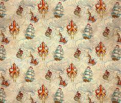 The Seven Seas Vintage fabric by urban_threads on Spoonflower - custom fabric