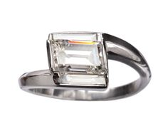 EB 1.34ct Rhomboid Diamond Ring