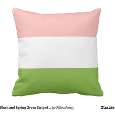 Blush and Spring Green Striped Pillow (€31) ❤ liked on Polyvore featuring home, home decor, throw pillows, striped accent pillows, striped throw pillows and stripe throw pillows