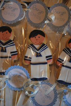 Galletas personalizadas para Sergio en su comunión