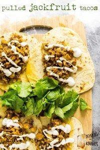 Vegan Recipes - Spicy Pulled Jackfruit Tacos