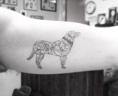 Geometric Dog Tattoo by Brian Woo