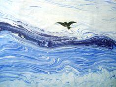 Esengul Inalpulat (©2004 artmajeur.com/kirmizi) Marble Painting, Marble Art, Ink Painting, Art And Illustration, Ebru Art, Water Paper, Reclaimed Wood Art, Les Cascades, Turkish Art