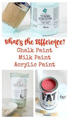 What's the difference? Milk Paint? Acrylic Paint? Chalk Style Paint? What IS the…