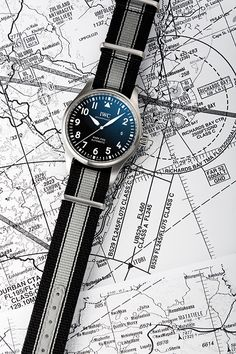 This thematic special edition of the Mark XVIII with blue dial has a compact case that unites all the functions and style cues of a typical Pilot's Watch. Iwc Watches, Watches For Men, Iwc Chronograph, Iwc Pilot, Watch Companies, Blue Plates, Jewelries, Product Design, Apples
