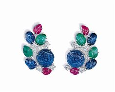 Rosamaria G Frangini Cartier Earrings, Cartier Jewelry, Ruby Earrings, High Jewelry, Jewelry Art, Vintage Jewelry, Jewelry Design, Unique Jewelry, Tutti Frutti