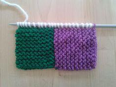 Apuros de una tejedora compulsiva: Tutorial: Hacer un Log Cabin de punto Easy Knitting, Knitting Stitches, Square Blanket, Knitted Blankets, Knitting Patterns, Knit Crochet, Diy And Crafts, Wool, Handmade