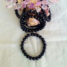 Genuine Black Obsidian 8mm round beads by LunaValleyCrystals