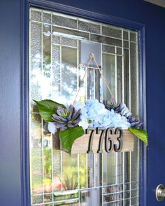 You might want to rethink your address sign when you see what this homeowner did on her front door. Gorgeous!