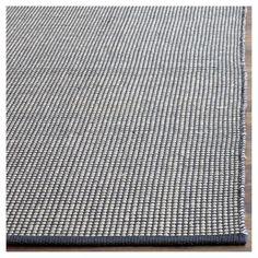 Ivory/Navy (Ivory/Blue) Stripe Flatweave Woven Square Area Rug - (6'X6') - Safavieh
