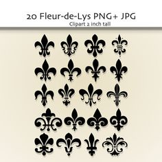 Fleur de Lis Clip Art   Digital clipart Design by ValerianeDigital