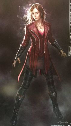 Scarlet Witch concept art for Age of Ultron