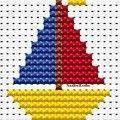 Íme néhány - kevés munka- és időráfordítást igénylő - keresztszemes hímzésminta, amelyekkel a gyerekek ruhái feldobhatók, egyedivé és nem. Baby Cross Stitch Patterns, Cross Stitch Borders, Cross Stitch Baby, Cross Stitch Designs, Cross Stitching, Cross Stitch Embroidery, Baby Sweater Knitting Pattern, Knitting Charts, Baby Knitting Patterns