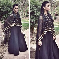 Bani J in an Esha Koul outfit for a wedding in Delhi. Desi Wear, Pretty Outfits, Pretty Clothes, Bridal Outfits, Indian Ethnic, Bollywood Fashion, Indian Dresses, Boss Lady, How To Look Pretty